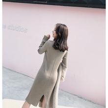6%羊毛混纺纱连衣裙四色可选显瘦百搭打底裙女 K姐自制 打底神器图片
