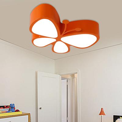 创意儿童房吸顶灯卧室灯可爱蝴蝶灯幼儿园游乐园彩色温馨护眼灯具哪个好