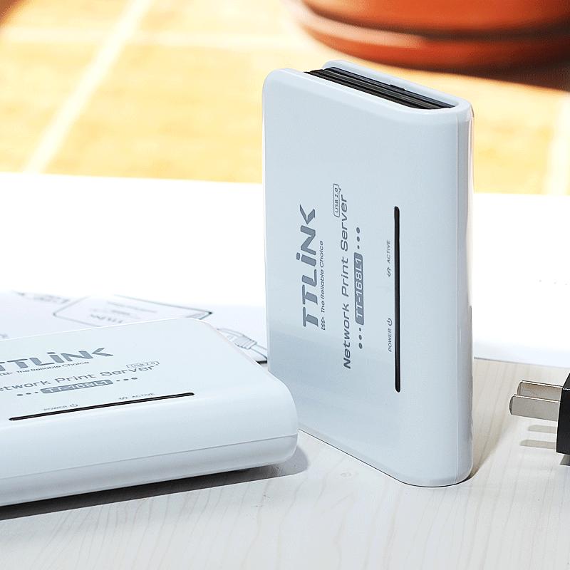 原装正品TTLINK 网络打印机共享器USB转换网络打印服务器TT-168L1