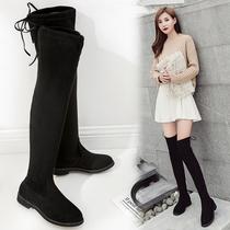 潮女短靴女英伦风粗跟靴子铆钉尖头马丁靴秋冬季新款跟鞋子