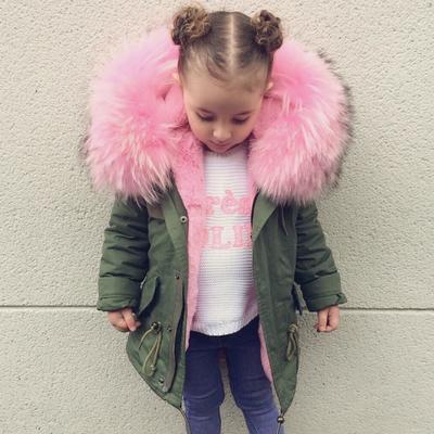 女童冬装棉衣2017新款仿皮草中大童棉外套加厚亲子大毛领大衣风衣