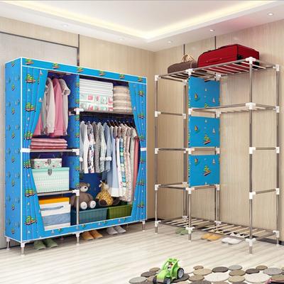 衣橱衣柜组装简易不锈钢
