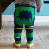 British Blade Rose baby pants spring and autumn children cute cartoon stretch big pp pants baby leggings