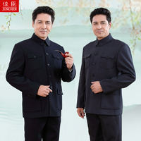 Zhongshan suit men's suit middle-aged and elderly people Zhongshan suit jacket old clothes grandfather dad wear autumn and winter clothing