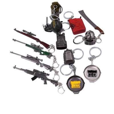 絕地吃雞游戲98K三級頭包甲平底鍋awm模型鑰匙扣掛件玩具求生周邊
