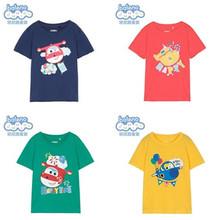 男童 卡通儿童短袖 上衣 超级飞侠 印花纯棉T恤 Baleno班尼路童装