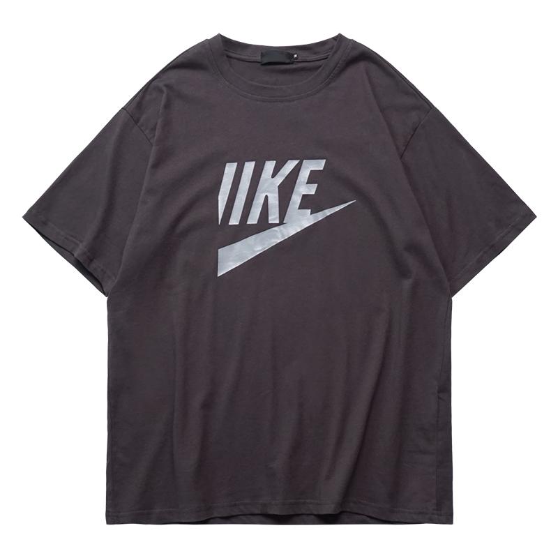 2018夏季新款复古字母印花潮牌T恤女短袖圆领嘻哈上衣bf酷酷帅气
