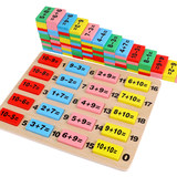 Numeral operation cognition in preschool education mathematics domino wooden puzzle toys for children in early education