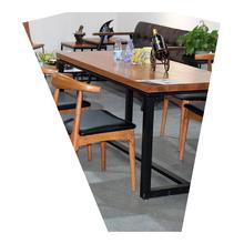 户外桌家庭带电餐桌摆摊地摊简易组合金属原木组装美式乡村餐桌椅