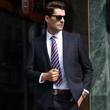 雅戈尔专柜正品黑色羊毛西服套装西装22409