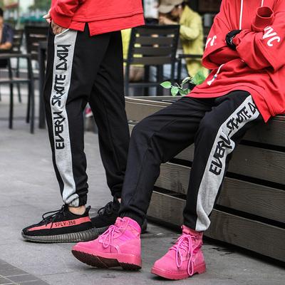 运动裤男大码hiphop裤子嘻哈裤男装胖子裤子宽松卫裤潮牌加肥加大