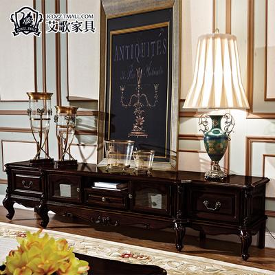艾歌 美式古典電視柜客廳家具全實木歐式電視柜客廳電視機地柜M38怎么樣