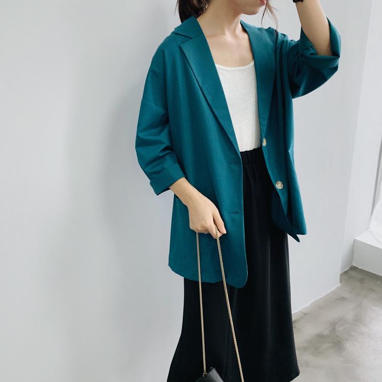 西装外套女韩版宽松2019新款防晒衫小西服薄款时尚气质休闲上衣