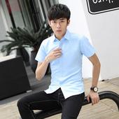 免烫浅蓝短衬批发白衬衣 9.9 男短袖 衬衫 商务纯色正装 夏季薄款 包邮