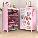 儿童鞋架多层卡通可爱可拆卸组合鞋架高档客厅迷你防尘鞋架子特价