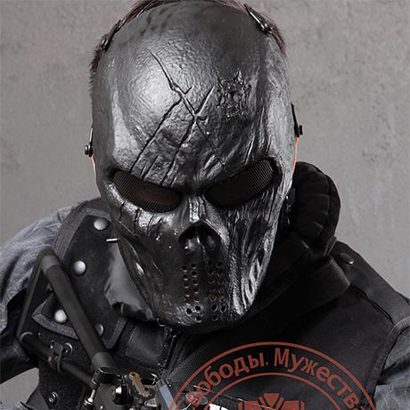 酋长全脸恐怖面具迷彩骷髅头鬼脸防护面罩男女户外成人CS恶魔舞会