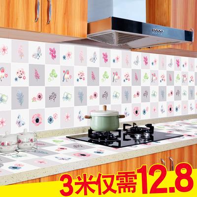 厨房防油烟贴纸耐高温防水自粘墙贴厨柜灶台用油污铝箔锡纸壁纸