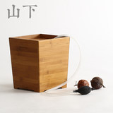 Bamboo tea slag bucket tea bucket tea tray tea tray water bucket solid wood tea bucket kung fu tea set waste water barrel bamboo filter bucket