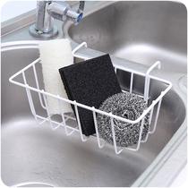 水槽铁艺沥水篮收纳挂篮厨房清滤水架子水池清洁品置物架A768