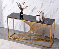 现代铁艺轻奢玄关台走廊玄关柜简约创意大理石玄关桌靠墙条几条案