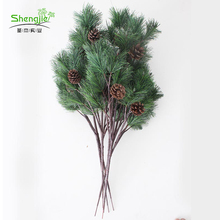 圣杰假松树枝仿真松针假树叶马尾松树枝迎客松树叶园林景观装饰