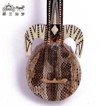 (热瓦普)蛇皮款新疆少数民族乐器手工维吾尔族弹拨类乐器送琴包
