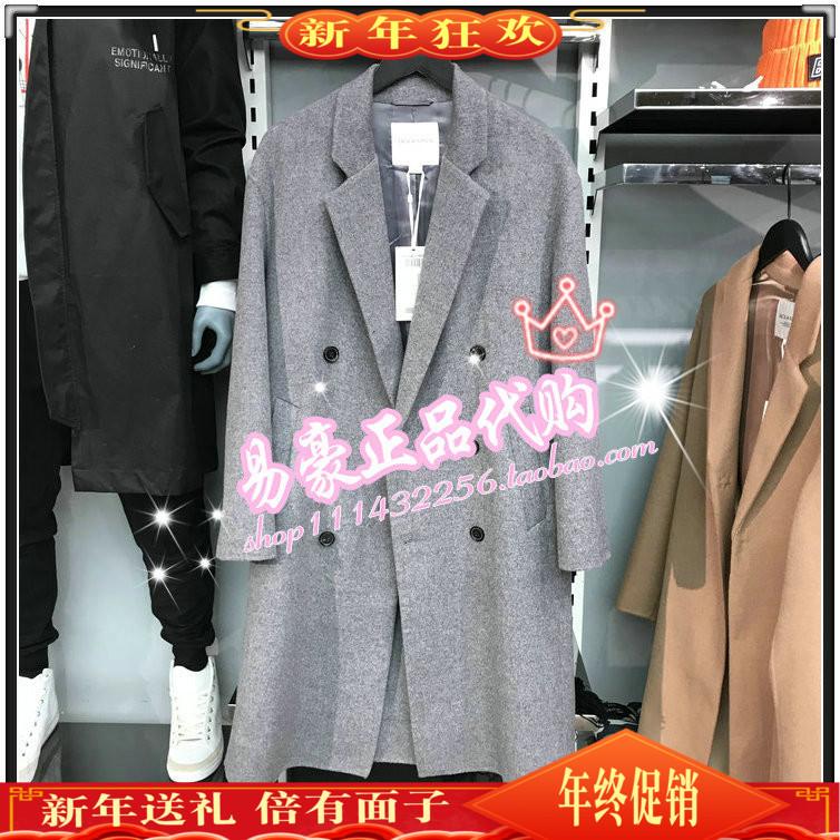 杰克琼斯专柜新品时尚中长款大衣外套 218327520E00 218327520