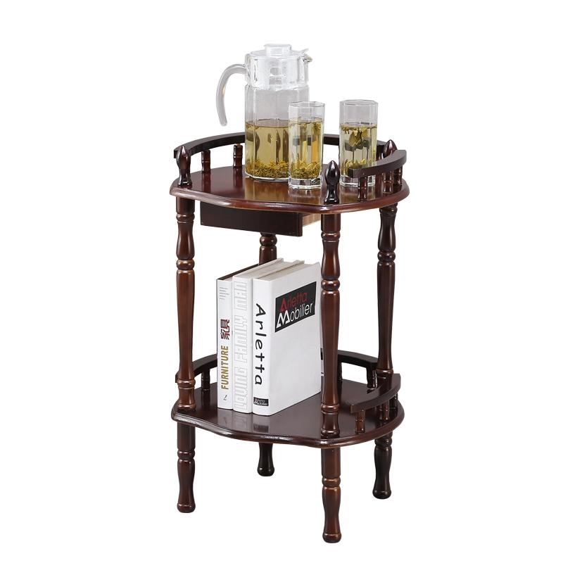 棋牌室茶水架子会所茶几麻将机桌实木茶几茶水架桌沙发边几置物包