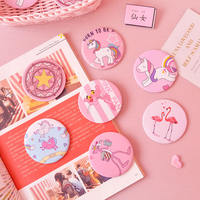 Ins Japanese girl Sakura magic makeup mirror girl powder cartoon round cute student small round mirror portable mirror