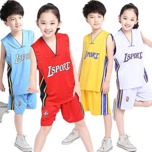 童装男女童篮球服中大童NBA球队篮球服装运动套装班服校服两件套