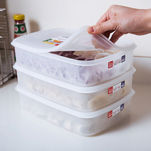 Japan Imported Three Refrigerated Non-stick Plastic Boxes, Dumpling Boxes, Fresh-keeping Boxes, Tangyuan Boxes and Food Receiving Boxes