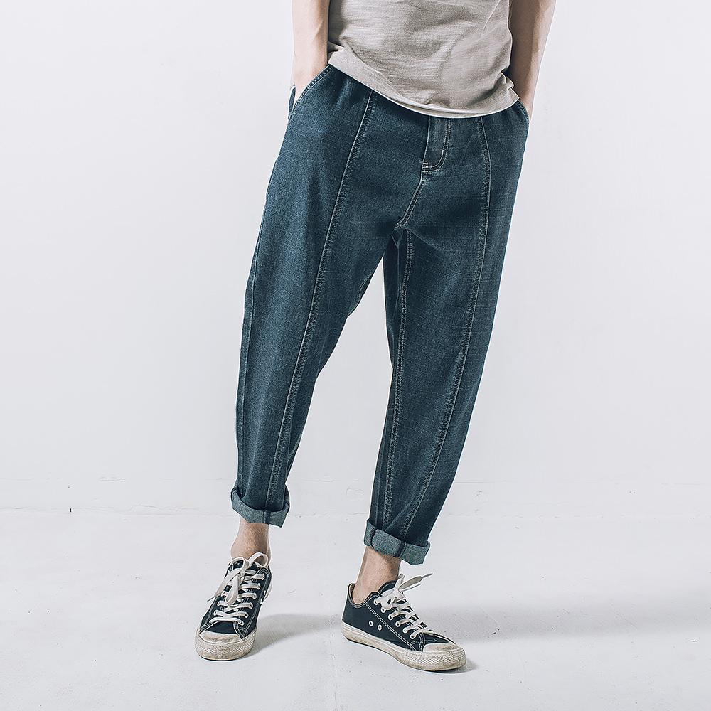 格九分牛仔裤
