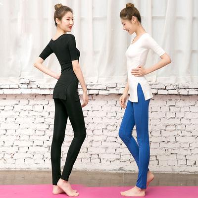 瑜伽运动套装女春夏修身健身房莫代尔瑜珈服显瘦健身服练功舞蹈服