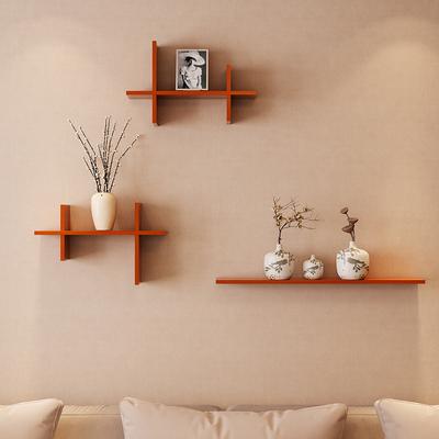 墙上置物架壁挂客厅电视背景墙墙面实木隔板创意格子卧室墙壁装饰多少钱