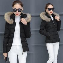 棉衣女短款2018冬装新款加厚羽绒棉服胖mm加大码棉袄连帽毛领外套