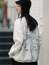 PSO Brand 19AW1 Port Fashion Hand-painted Interesting Graffiti Loose Chao Brand Round-collar Couple Dressed Guard Men