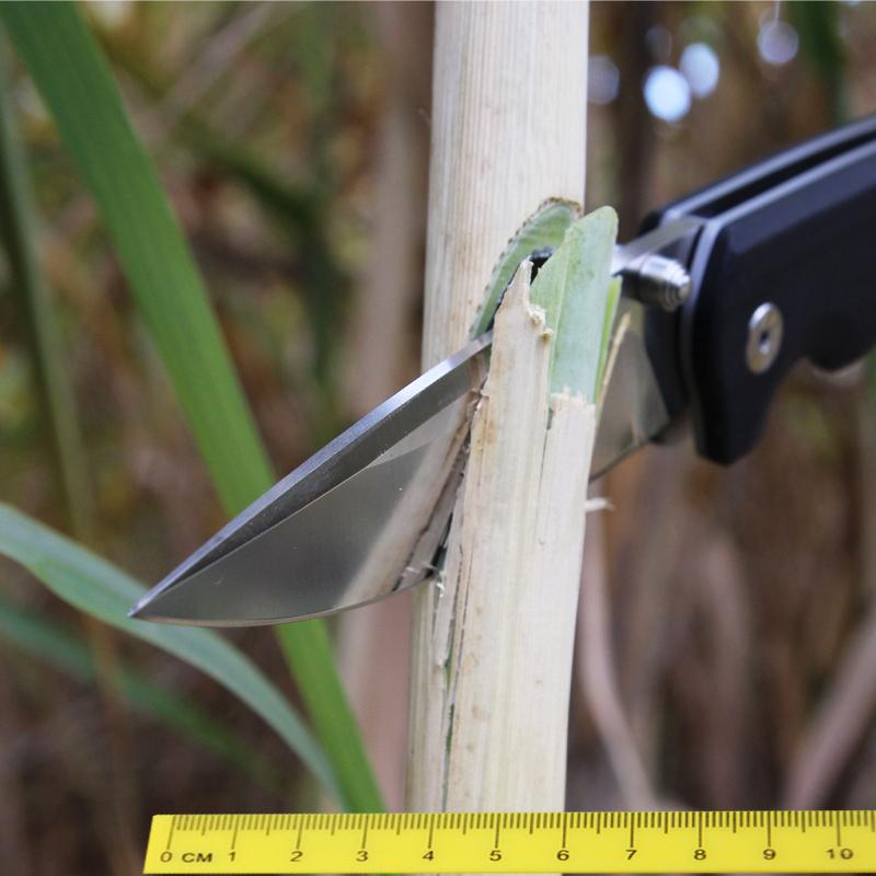 HZ485折叠刀 高硬度小刀 锋利不锈钢 白钢 VG10水果刀具 包邮