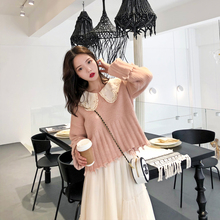 Rabbit Seven Brothers'Fairy Sweater Lazy Style Student's Skirt Sweater Short Style Overheated Cec Sweater