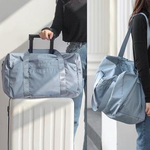 旅行包女短途斜挎网红大容量行李袋男手提轻便干湿分离健身包运动