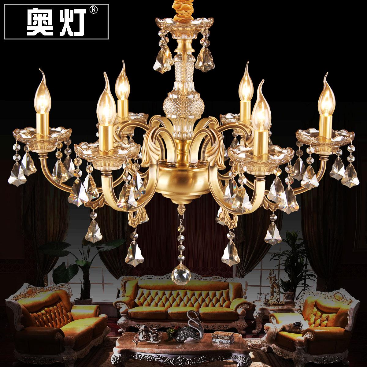 古铜蜡烛吊灯具