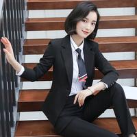 西装套装女职业装黑色西服酒店经理职业套装OL商务面试正装工作服