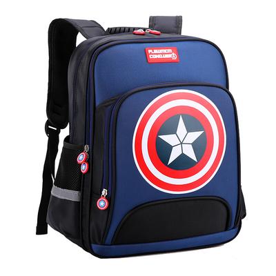 美国队长小学生书包男1-3-6年级6-12岁男孩英伦减负防水儿童书包