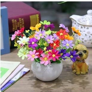 俩盆 绢塑料假花仿真花装 客厅装 饰花艺套装 饰品摆件小盆栽 包邮