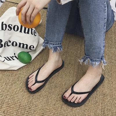 【特价7.9包邮】韩版休闲平底人字拖女夏简约纯色防滑夹脚沙滩鞋