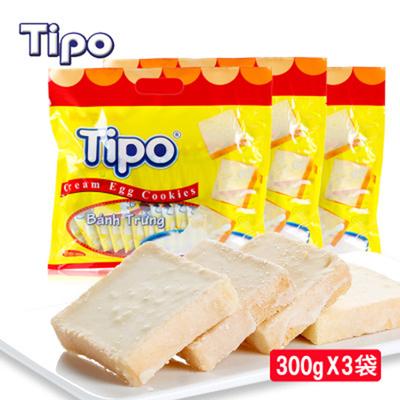 越南进口tipo面包干300g*3袋 面包片饼干早餐办公早餐散装零食品