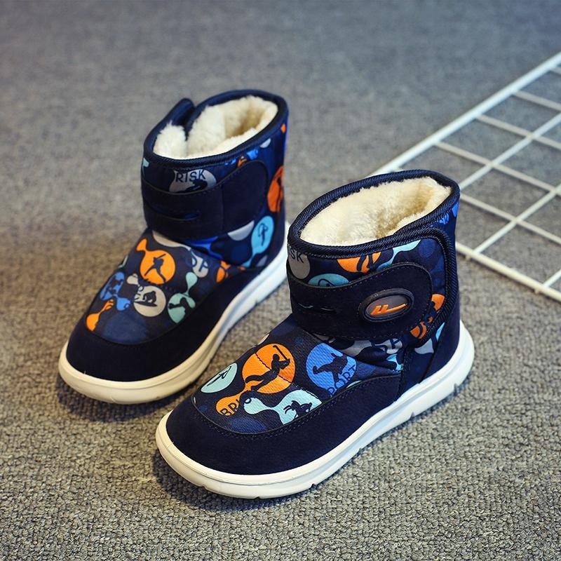 回力童鞋儿童雪地靴2019冬季新款男童女童休闲保暖棉鞋大棉帆布鞋
