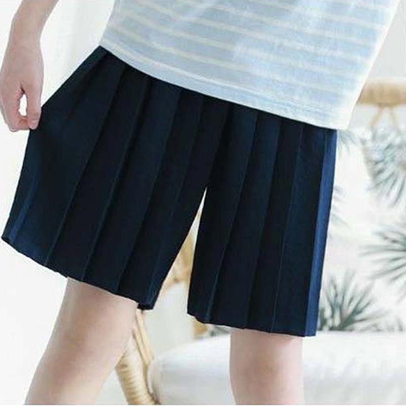 韩国进口童装2018夏款女童儿童中大童百褶短裤裙裤裤子