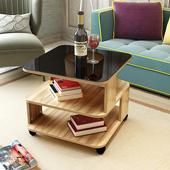 边几现代简约沙发边几客厅移动角几迷你小茶几钢化玻璃话几床头柜图片