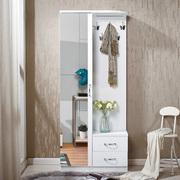 门厅柜衣帽柜穿衣镜子换鞋凳组合鞋柜带挂衣架多功能柜80cm玄关柜
