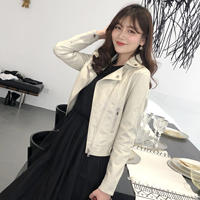 Autumn women 2018 new leather women short paragraph wild Korean version of the thin PU motorcycle jacket Slim women's leather jacket